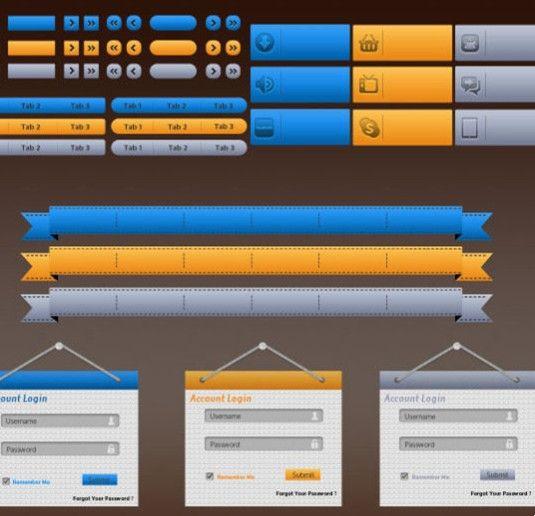 精致网页图标元素—psd分层素材