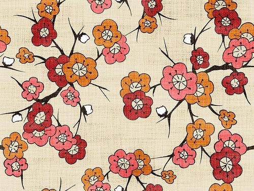 彩色花布纹网页背景30