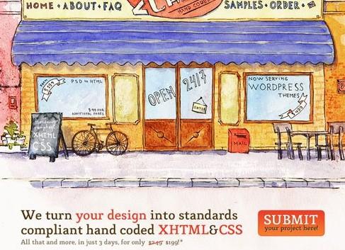 网页设计中水彩效果应用实例