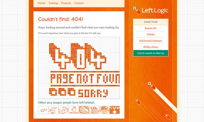 404错误页面的15个优秀案例