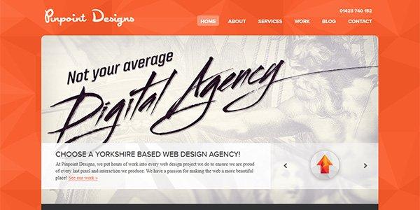 Pinpoint Design 多边形网页设计Polygon web design