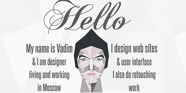 Made by Vadim 多边形网页设计Polygon web design