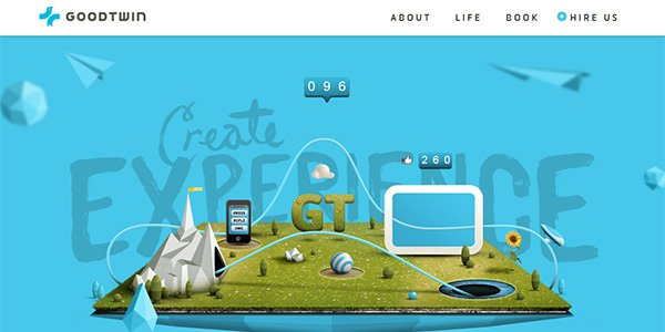 GoodTwin 多边形网页设计Polygon web design