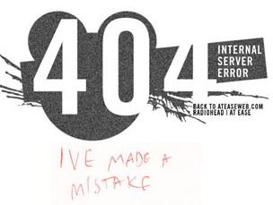 20个很酷的404错误页面