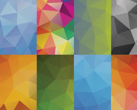 10个高清多边形的设计背景纹理素材下载