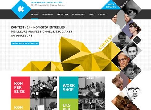 创意十足的倾斜式网站设计