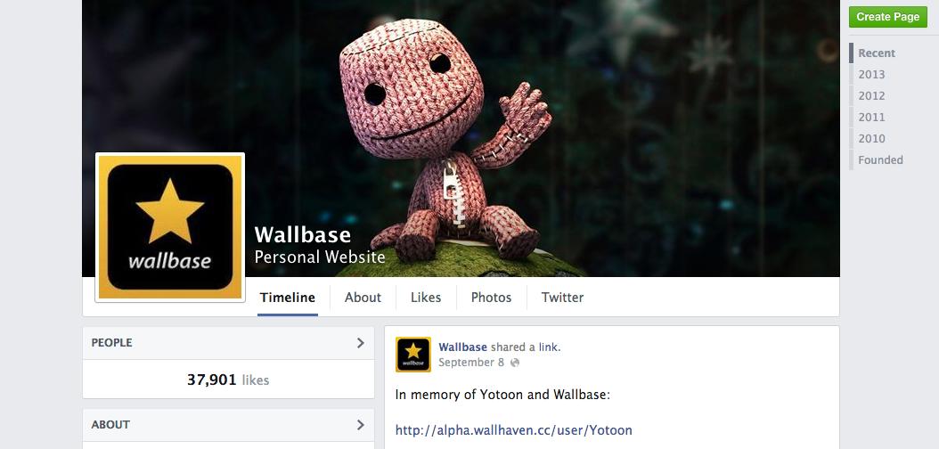 facebook wallbase