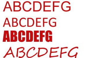 网页设计最常用的中英文字体