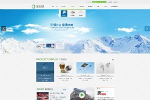 大气灯具行业网站模板PSD分层素材