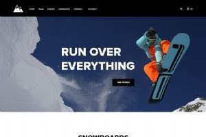 休闲滑雪运动网页psd模板