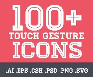 100 ICONS手势PSD素材