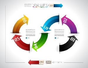 六色数据图表