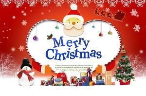 幸福圣诞节PSD素材免费下载