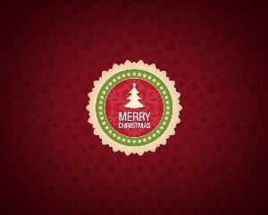 圣诞节标签贺卡psd素材