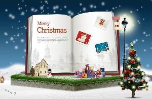 圣诞节广场PSD素材免费下载