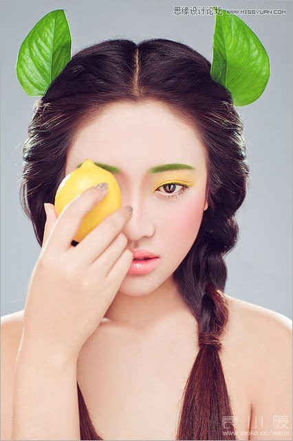 Photoshop结合CR给美女添加淡淡的彩妆
