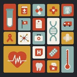 20个医疗设备扁平化图标