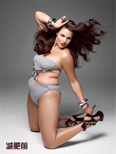 Photoshop教程把肥胖女人改成性感美女