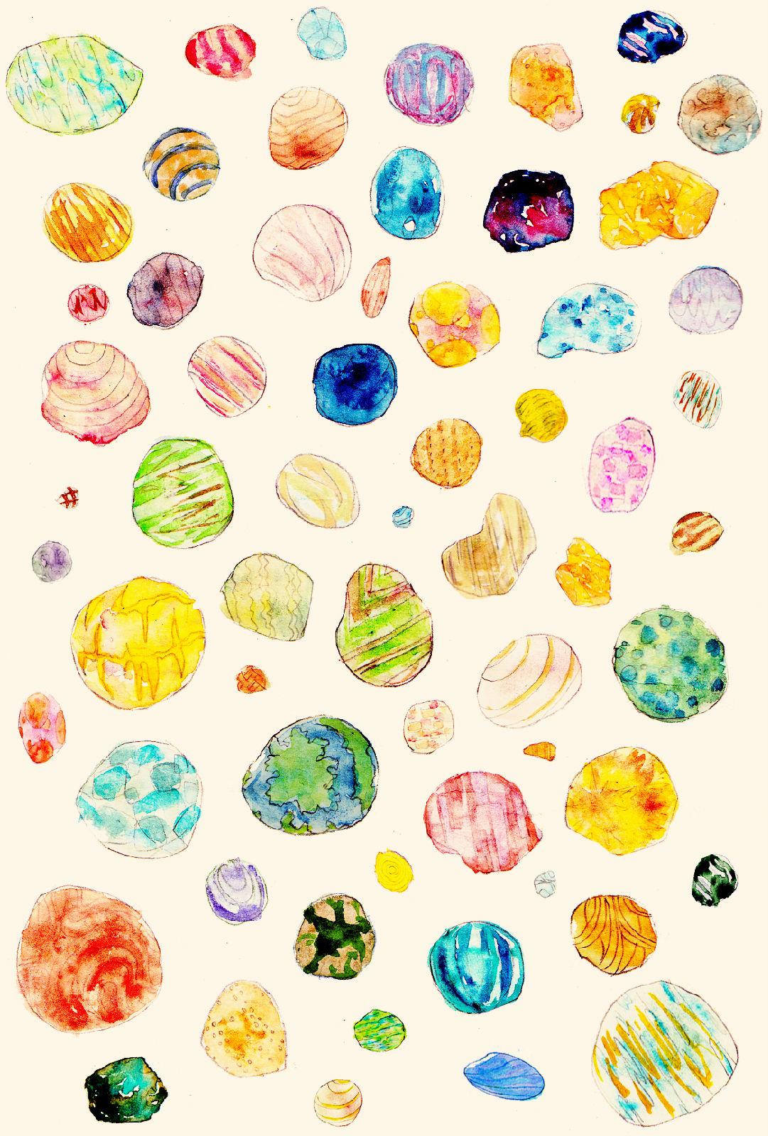 彩绘贝壳花纹背景