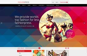 国外时尚女装商城网页模板(PSD)