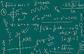 数学公式黑板创意网页背景