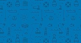 蓝色沙滩元素纹理网页背景