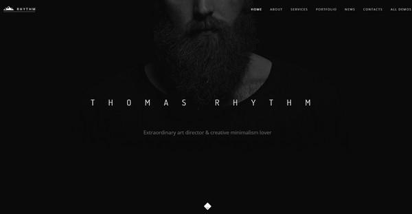 一组沉稳有范儿的黑色系优秀网页设计 图趣网