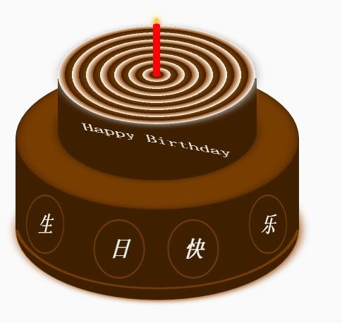 纯HTML5+CSS3制作生日蛋糕代码易懂