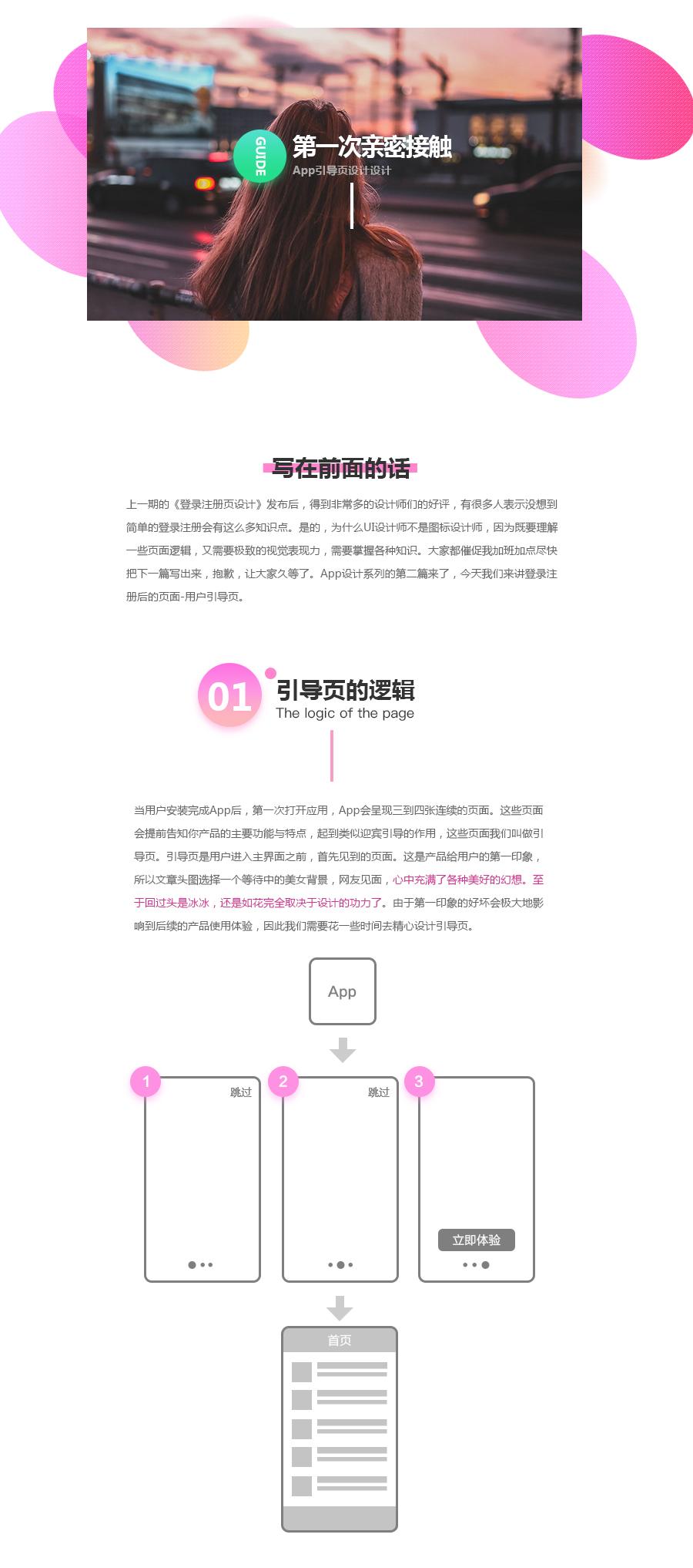 第一次亲密接触-app引导页设计