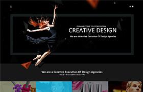 黑色设计工作室模板(psd)