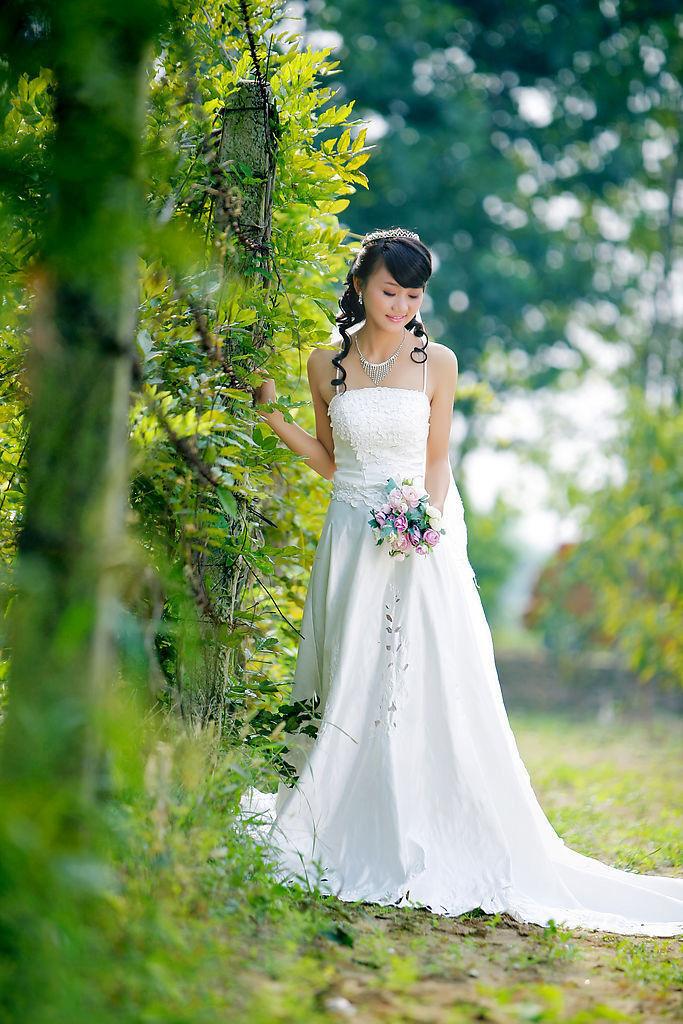 Photoshop打造柔美的黄褐色秋季逆光婚片教程