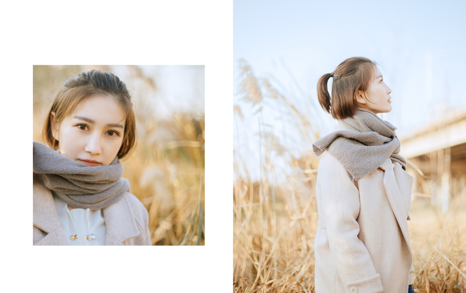 Photoshop调出外景人像照片秋季冷色结果教程