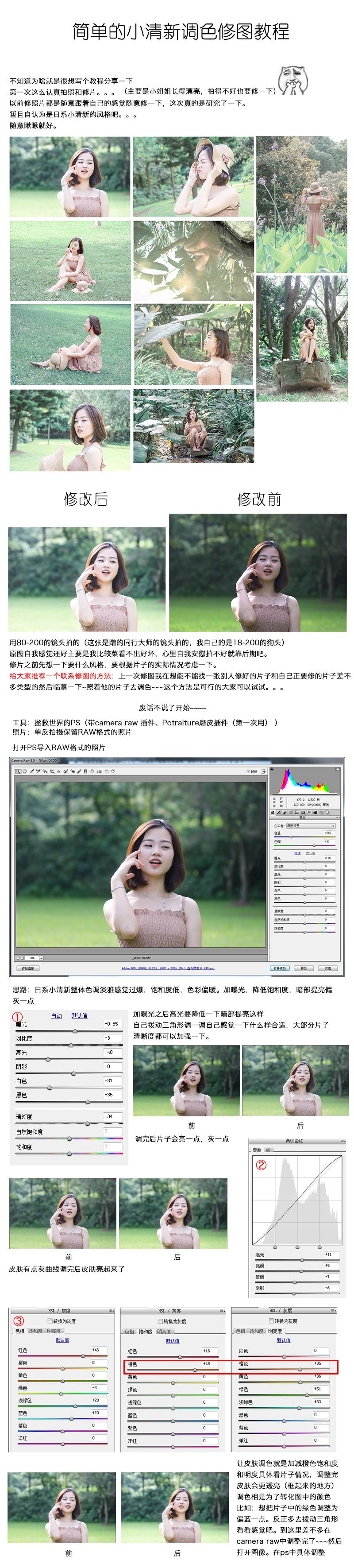 Photoshop细致解析人像小清新调色修图教程