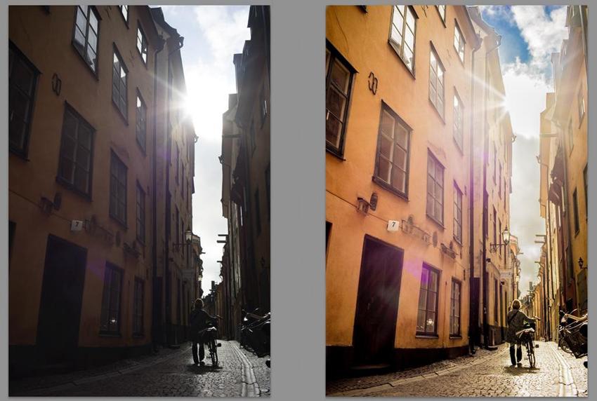 Photoshop把曝光不足照片变成电影大片结果教程